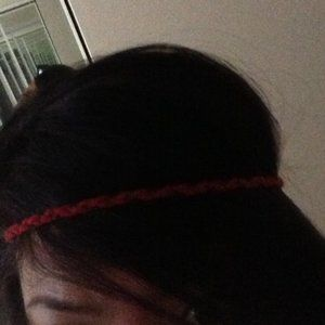Red with chain beaded headband